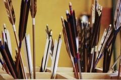 Flèches avec le foyer sélectif Image libre de droits