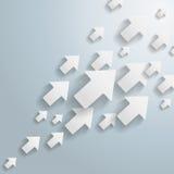 Flèches blanches Photos libres de droits