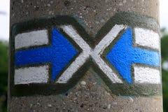Flèches bleues Photographie stock