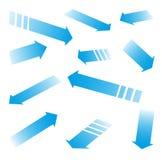 Flèches bleues Photo stock