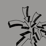 Flèches collantes de collection Illustration de vecteur Coll de flèche de croquis illustration de vecteur
