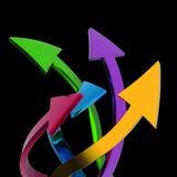 flèches colorées Images stock