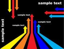 Flèches colorées   Photo stock