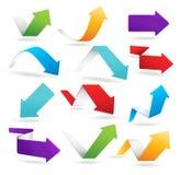Flèches colorées Images libres de droits