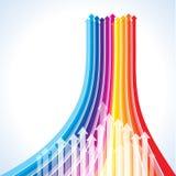Flèches colorées Photographie stock