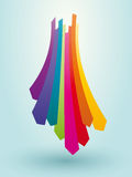 Flèches colorées Image stock