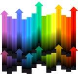 Flèches colorées Photo libre de droits