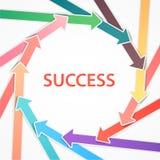 Flèches colorées avec des données. Cercle de cycle. Business  Photos stock