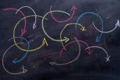 Flèches colorées curvilignes Photo stock