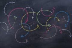 Flèches colorées curvilignes Photos libres de droits