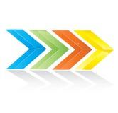 Flèches colorées de vecteur Photos stock