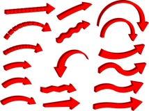 flèches 3D à trois dimensions (vecteur) Image stock