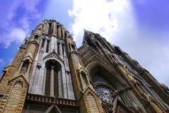 flèches d'église photographie stock libre de droits