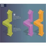 flèches 3D Photos libres de droits