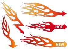 Flèches d'incendie, vecteur Photographie stock