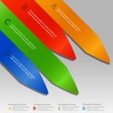 Flèches d'Infographic au-dessus de fond gris Images stock