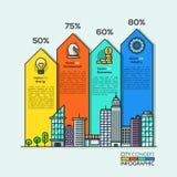 Flèches d'Infographic de la vie de ville Photographie stock libre de droits