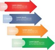 Flèches d'Infographic pour le design d'entreprise Vecteur Photo stock