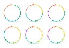 Flèches de cercle de vecteur pour infographic illustration de vecteur