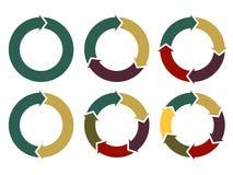 Flèches de cercle de vecteur pour infographic Images stock
