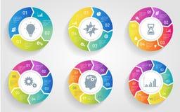 Flèches de cercle de vecteur pour infographic Calibre pour le diagramme de recyclage, le graphique, la présentation et le diagram Image libre de droits