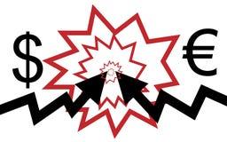 Flèches de choc Image libre de droits