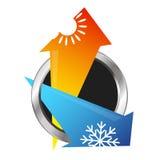 Flèches de climatiseur et de ventilation Photo stock