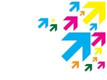 Flèches de couleur Photos libres de droits