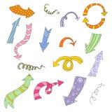 Flèches de couleur illustration stock