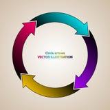 Flèches de couleur en cercle Photo stock