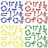 Flèches de couleur - ensemble de vecteur Illustration de vecteur Image libre de droits