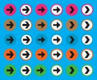 Flèches de couleur réglées Photo libre de droits