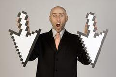 Flèches de fixation d'homme d'affaires Image stock