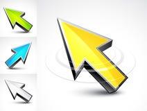 flèches de la flèche indicatrice 3D illustration libre de droits