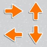 Flèches de papier avec des ombres. Illustration de vecteur. Image stock