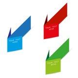 Flèches de papier de couleur de la publicité Photo libre de droits