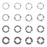Flèches de rotation réglées Photos stock