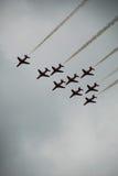 Flèches de rouge d'Airshow Images stock