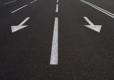 Flèches de route Images stock