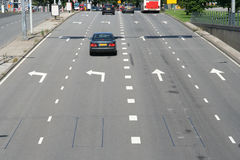 Flèches de route Photographie stock libre de droits