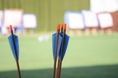Flèches de tir à l'arc Images stock