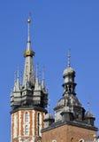 Flèches des tours d'église Image libre de droits
