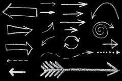 Flèches dessinées dans la craie illustration stock