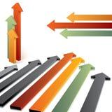Flèches du vecteur 3d Image stock