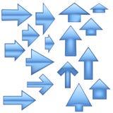 Flèches en verre - bleu Photos stock