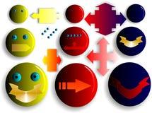 Flèches et étiquettes de Smilies Images libres de droits