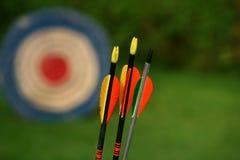Flèches et cible Photographie stock libre de droits