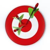 Flèches et cible Images stock