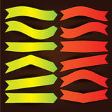 Flèches et drapeaux réglés Photographie stock