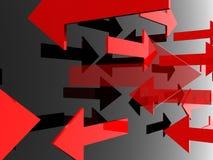Flèches faites au hasard Image libre de droits